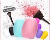Wholesale Brush Egg Brushegg Silicone Brush Cleaning Egg Brush egg Cosmetic Brush Cleanser Make up Makeup Brush Cleaner Clean tool