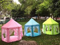 Wholesale Kids Play Tents Prince Princess Party Tent Children Indoor Outdoor Tent Big Game House Three Colors