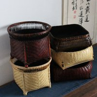 Wholesale Storage Baskets Japanese - A charcoal basket basket bamboo bamboo basket storage basket rattan bamboo craft exquisite Japanese bamboo and rattan
