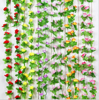 air condition ducts - 2 m Extra Long Artificial Rose Flower Vine Wisteria Garland Home Living Room Air conditioning Ducts Hanging Ornament Wedding Decor