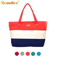 Wholesale Mint Hcandice Hot Women Ladies Stripes Canvas Shoulder Messenger Summer Beach Handbag Bags Totes Gift Jun01