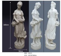Wholesale life size sculpture Artificial sandstone sculpture waterscape decor western female ornaments sandstone relief carvings European statues