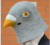 best pigeons - 2016 Latest Halloween Mask Natural Latex Gray Pigeon Head Mask Best Dressing up