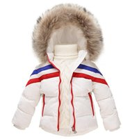 baby designer coat - Designer Winter Kids Down Coats with Detachable Hooded Baby Thick Stripes Jacket Outerwear for Boys and Girls H008
