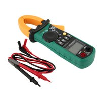 Wholesale MASTECH MS2008A Digital Clamp Meter Amper Multimeter Current Clamp Pincers AC Current AC DC Voltage Resistance Tester