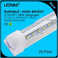 Wholesale LEDVAS Pack W V Shaped Integrated T8 LED Tube Lights mm Lamp Bulb feet m Ft Ft m mm W AC85 V Led Lighting