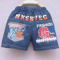 baby soccer clothing - fashion boy jeans shorts new arrival soccer letter summer styleboy casual shorts Y shorts pants baby girl clothes