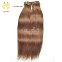 Wholesale quot quot Clip in on Virgin Human Hair Pieces Soft Brazilian Virgin hair Extenions g piece