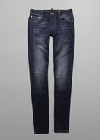 Wholesale Autumn and winter essential blue contracted joker sheet is tasted men fit straight jeans washing jeans