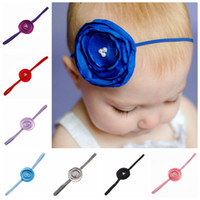 baby sew - 2016 New Arrival Children s Headbands multilayer round sew fabric flowers Baby Hair Band Accessories