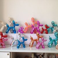 Wholesale Pop Art Balloon Dog Figurine Statue Pop Art Crafts Ornament Resin Craft XMAS Gift Creative Gift