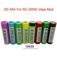Wholesale Ecig Battery High Drain A V mah Rechargeable Battery For Ecig Box Mod r HG2 HE4 HE2 Fedex