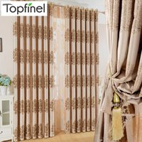 Wholesale Top Finel Luxury Modern Jacquard Thick Blackout Curtains for Living Room the Bedroom Window Shades Treatments Drapes Panel