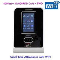 Wholesale Wireless Connection Facial Time Attendance ZK software VF500 VF700 Face IDcard WIFI Employee Time Clock With Double Cameras