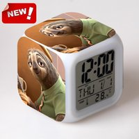 antique horse clocks - Clock Zootopia Electronic Desk Digital Color Change Horse Desk Watch Relogio De Mesa Wake Up Light Plastic Reloj Zootropolis