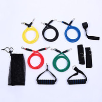Wholesale New Set Latex Resistance Bands Workout Exercise Pilates Yoga Crossfit Fitness Tubes Pull Rope HY893