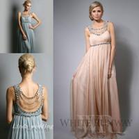 Wholesale Jennifer Lopez Bridesmaid Dress New Beach Chiffon Long Maid of Honor Wedding Party Gown