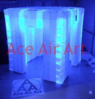 Wholesale big square style led free standing inflatable square tent with Brightest lights System and Remote Control