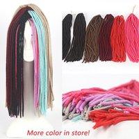 Wholesale 20inch Color Havana Twist Faux Locs Crochet Braid Synthetic Soft Dreadlocks Braids in Hair Extensions Weave For Beautiful Women