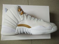 Wholesale basketball shoes retro xii ovo white men athletic shoes retail