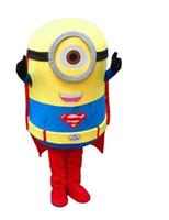 2015 Brand New Custom Cattivissimo me costume minion mascotte fatto Cattivissimo Me 2 cartoni animati costumi mascotte ladro papà persone gialle