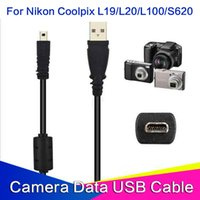 Wholesale USB UC E6 Cable for Nikon Coolpix L1 L2 L3 L4 L5 USB A Male to mini pin flat Male Camera Cables