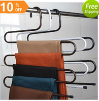 Wholesale Brand New Magic Multifunction Practical Convenient Layers Tie Towels Belt Trousers Pants Closet Hanger Racks