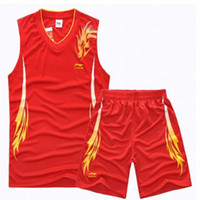 Wholesale New Brand Sleeveless Basketball Jersey Short Pants Suit Sets Children Adult Sportswear Suit Sport Training Clothes