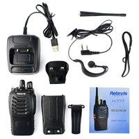 Wholesale Walkie Talkie intercom Retevis H Walkie Talkie UHF MHz W CH Single Band Way Radio SMA F Black Free earpiece UK plug