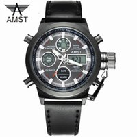 Wholesale Male Fashion Sport Military Wristwatches New AMST Watches Men Luxury Brand ATM m Dive LED Digital Analog Quartz Watches