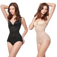 adjustable waist strap - Women Floral Bodysuit Shapewear Underwear Plus Size Body Shaper Adjustable Straps Slimming Waist Training Corsets G2313