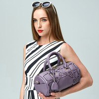 Wholesale 4colours cow leather boston bags fashion belt bag sex luxury office chic club party moden shoulder and holder