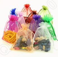 Wholesale JJA53 Drawstring Organza Bags Wedding Bridal Party Favors Gift Candy Wrapping Bags Jewelry Pouch cm