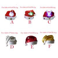 Wholesale New years Christmas Party Santa Hat Red And White Cap Christmas Hat For Santa Claus Costume Christmas Decoration