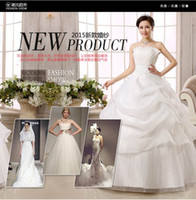 Wholesale The bride wedding dress neat cultivate one s morality show thin dress that wipe a bosom studio