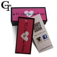 Wholesale custom logo brand paper price tag tags personality shop name printing shopping lage paper labels tags packaging swing tags