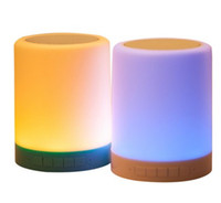 E27 battery led light with switch - Multifunctional Smart Portable Wireless Bluetooth Speaker with Touchable Induction LED Table Lamp Night light TF Card