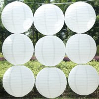 Wholesale Pieces Inch White Paper Ball White Chinese Paper Lanterns For Party and Wedding Decoration