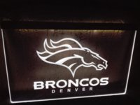 Wholesale LD067 Denver Broncos Bar Pub Logo LED Neon Light Sign sign welcome signed jerseys sign hardware