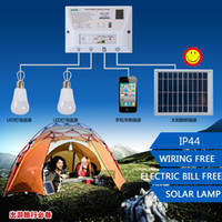 banks power systems - Portable LED Outdoor Solar Lights System Kit Waterproof Bulbs Mobile Phone Power Bank Rechargable Battery Camping Lighting