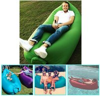 Wholesale Fast Inflatable Camping Sofa banana Sleeping Lazy Chair Bag Nylon Hangout Air Beach Bed chair Couch cm