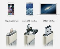 Wholesale Apple and Android PC G three in one lighting micro USB USB2 interface Plug and play mobile phone U disk