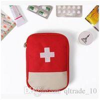 Wholesale 20pcs LJJC2116 Colors New Outdoor Camping survival First Aid Bag Travel Medical Bag Red Empty Bag Emergency Survival Bag Storage Bag