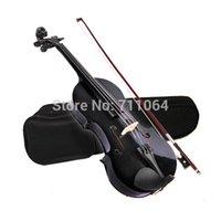 Wholesale ACOUSTIC Violin CASE BOW ROSIN WHOLE VIOLIN SET Black
