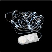 Wholesale CR2032 button battery operated submersible led lights with silver wire led string lights