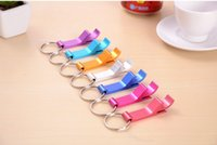 Wholesale Portable Aluminum Alloy Stainless Steel Beer Wine Bottle opener with keyChain in design For party gift Multifunction Tool