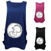 Wholesale New Arrivals Women s Pregnant T shirt Maternity Shirt Sleeveless Vest Baby Patterns Cotton Size M L XL KD6