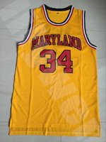 Wholesale Maryland Terrapins Number College Basketball Jerseys Men s Stitched and Embroidery Basketball Jersey High Quality Yellow Jerseys