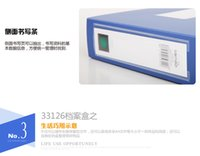Wholesale office drawer box blue Plastic material quality on desk Light and strong a pack of ten A4 size