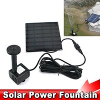 Wholesale 1set Solar Power Panel Kit Brushless Cycle Water Pump Submersible Watering For Garden Pond Fountain Electronic Rockery